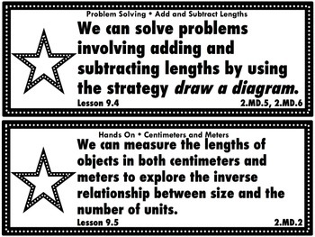 Go Math Grade 2 Chapter 9: Length in Metric Units Chapter Goals Display