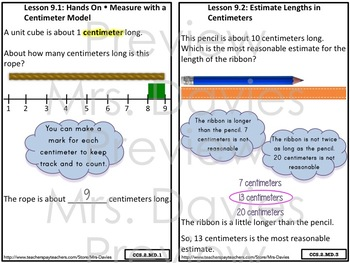 Go Math! Grade 2 Chapter 9: Length in Metric Units Strategies Reference Book