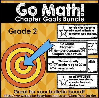 Go Math Grade 2 Chapter Goals Bundle