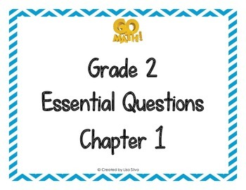 Go Math! Grade 2 Essential Questions - Chapter 1