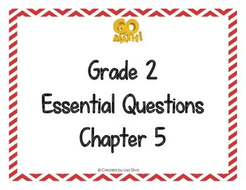 Go Math! Grade 2 Essential Questions - Chapter 5