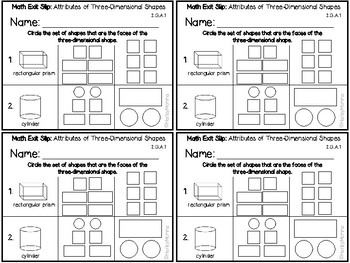 Go Math Grade 2 Exit Slips-Chapter 11