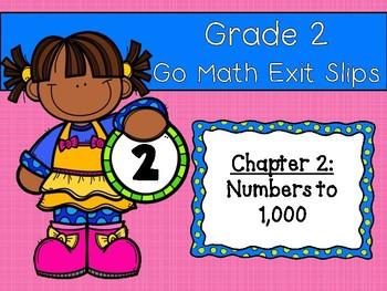 Go Math Grade 2 Exit Slips-Chapter 2