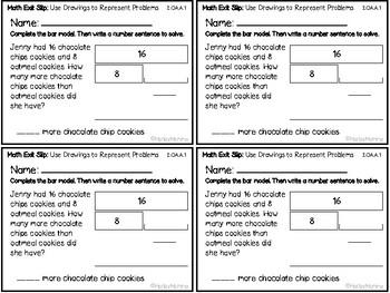 Go Math Grade 2 Exit Slips-Chapter 3