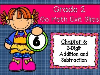 Go Math Grade 2 Exit Slips-Chapter 6