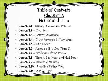 Go Math Grade 2 Exit Slips-Chapter 7