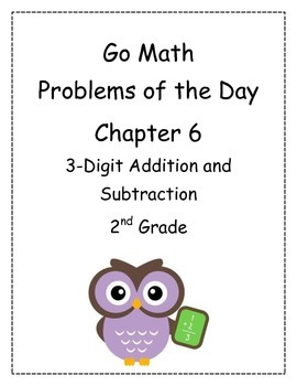Go Math! Problems of the Day for 2nd Grade Chapter 6