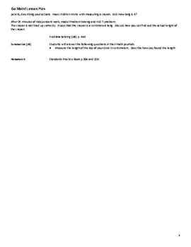 Go Math Grade 2 Unit 9 Lesson Plans