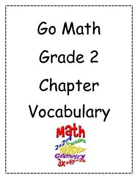 Go Math! Grade 2 Vocabulary