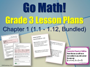 Go Math Grade 3 Chapter 1 Lesson Plans, Journal Prompts &
