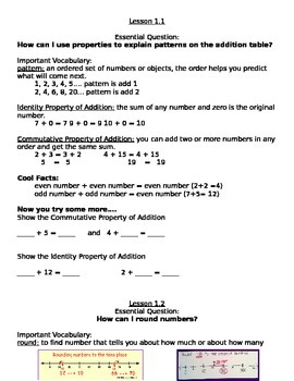 Go Math! Grade 3 Chapter 1 Section 1-5 Guided Notes