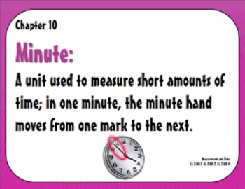 Go Math Grade 3 Chapter 10 (Lessons 10.1-10.9 w/ Journal Prompts & Vocabulary)
