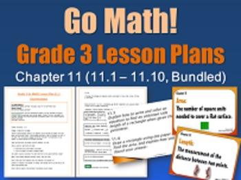Go Math Grade 3 Chapter 11 (Lessons 11.1-11.10 w/ Journal Prompts & Vocabulary-