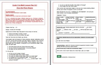 Go Math Grade 3 Chapter 12 (Lessons 12.1-12.9 w/ Journal Prompts & Vocabulary)