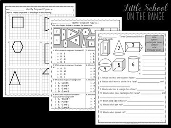 Go Math Grade 3: Chapter 15 - 2 Dimensional Figures and 3 Dimensional Solids