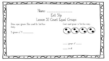 Go Math Grade 3 Chapter 3 Exit Slips