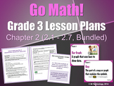 Go Math Grade 3 Chapter 2 Lesson Plans, Journal Prompts & Vocabulary Posters