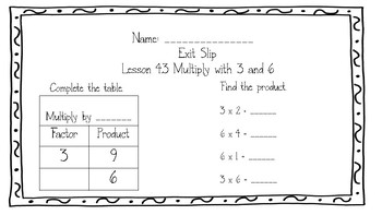 Go Math Grade 3 Chapter 4 Exit Slips