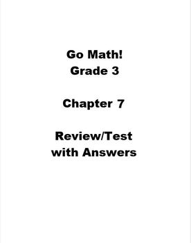 Go Math Grade 3 Chapter 7 Worksheets & Teaching Resources | TpT