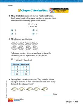 Go Math Grade 3 Chapter 7 Review/Test with Answers