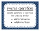 Go Math! Grade 3 Chapter 7 Vocabulary Cards