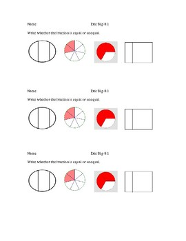 Go Math Grade 3  Chapter 8 Exit Slips