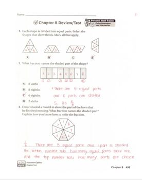 Go Math Grade 3 Chapter 8 Review/Test with Answers