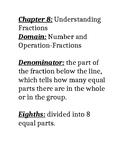 Go Math Grade 3  Chapter 8 Vocabulary