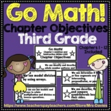 Go Math! Grade 3 Chapter Objectives