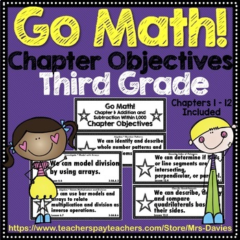 Go Math! Grade 3 Chapter Objectives