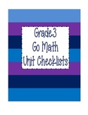 Go Math Grade 3 Checklists