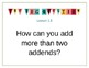 Go Math Grade 3 Essential Question Posters CHpater 1