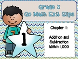 Go Math Grade 3 Exit Slips-Chapter 1