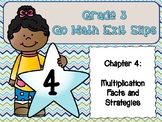Go Math Grade 3 Exit Slips-Chapter 4