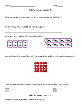 Go Math Grade 3 Reinforcement Work Chapter 7
