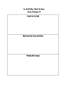 Go Math Grade 3 Show What You Know