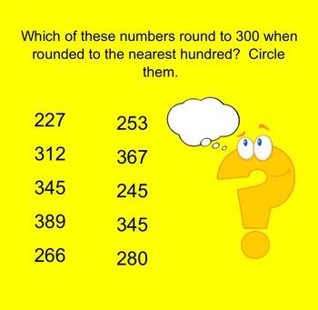 Go Math Grade 3 Unit 1 Review-Smartboard Activity