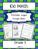 Go Math! Grade 3 Unit 2 Printable Pages and Google Slides