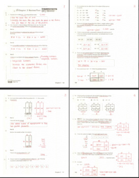 Go Math Grade 4 Chapter 1 through Chapter 13 Review/Test with Answers