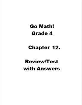 Go Math Grade 4 Unit 11 Worksheets & Teaching Resources | TpT