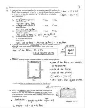 Go Math Grade 4 Chapter 13 Reviewtest With Answers By Benji Mommy