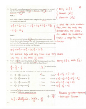 Go Math Grade 4 Chapter 7 Review/Test with Answers