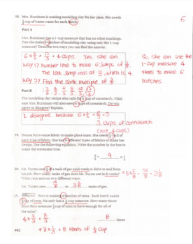 Go Math Grade 4 Chapter 8 Review/Test with Answers