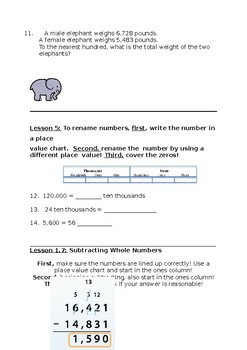 Go Math Grade 4 Chapter 1 Test Review Sheet by Anna Sukher ...