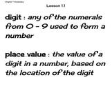 Go Math Grade 4 Chapter 1 Vocabulary Cards