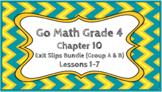 Go Math Grade 4 Chapter 10 Digital Exit Slips Bundle (Grou