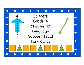 Go Math Grade 4 Chapter 10 Language Support (ELL) Task Cards