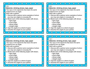 Go Math Grade 4 Chapter 10 Tier 2 Task Cards