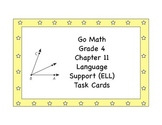 Go Math Grade 4 Chapter 11 Language Support (ELL) Task Cards