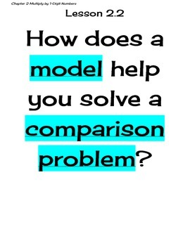Go Math Grade 4 Chapter 2 Essential Questions and I Can Statements